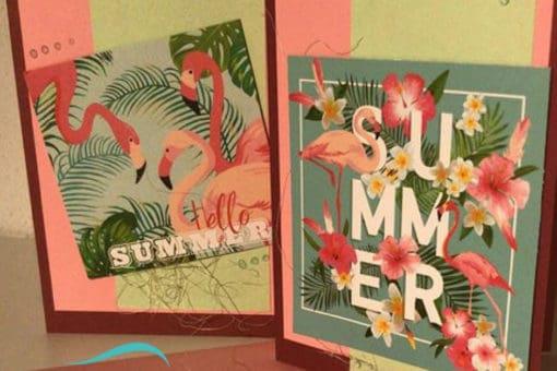 Karten für jeden Anlass, Flamingo, Couvert