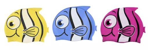 Lustige Badekappen mit Fischmotiv für Kinder