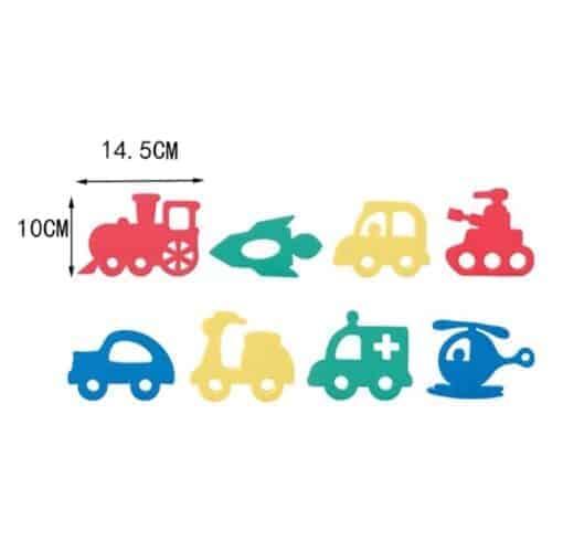 Badewannenset für Babys, Kleinkinder und Kinder. Diverse Fahrzeuge und Farben.