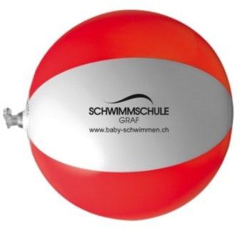 Kleiner Wasserbll in Rot Weis der Schwimmschule Graf