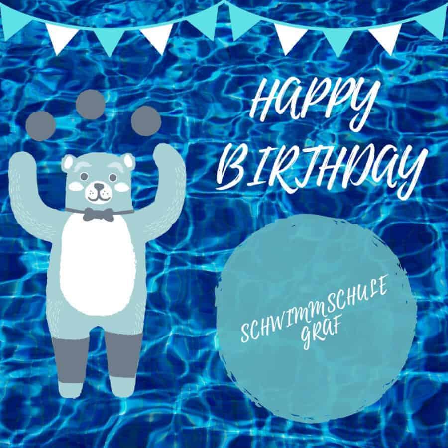Bär, Schwimmschule Graf in Bremgarten feiert Geburtstag