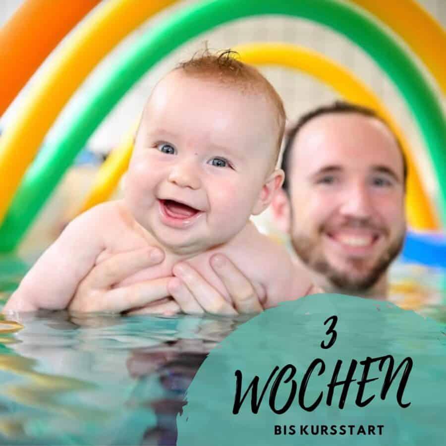 Baby mit Papi im Wasser - Schimmschule Graf