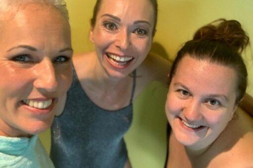3 Schwimmlehrerinnen der Schwimmschule Graf