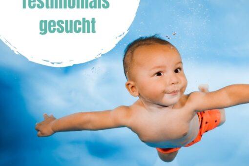 Baby im Wasser bei der Schwimmschule Graf